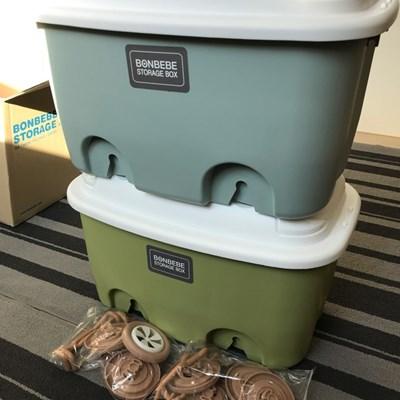 [본베베] 1+1 레고 장난감 기저귀 리빙 수납 정리함 - 노르딕정리함