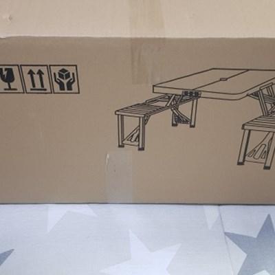 알루미늄 4인용 일체형 캠핑 테이블 접이식 감성 차박테이블