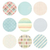 ROUND STICKER  SET_9PCS