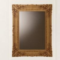 Decolfa 벽거울 스티커 - 스퀘어골드 (M3920)