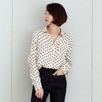 [3칼라]틴트 플로랄 도트 셔츠