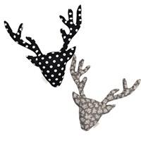 {패브릭 헌팅트로피}Dot Deer Collection_black dot+ flower(양면)