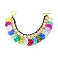 Vivid PomPon Bracelet