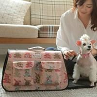 강아지 프리미엄 이동가방-로맨틱 핑크 래빗