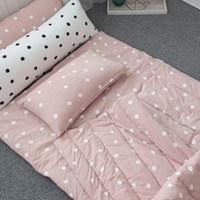 도트 낮잠 패드-핑크