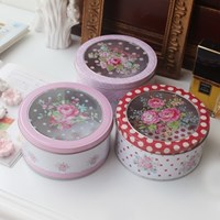 핑크로즈 원형 틴케이스(1p랜덤)