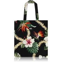 nother Layla Hawaiian Flat Tote Bag (Black)