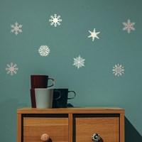 크리스마스 눈꽃스티커 (클래식 눈꽃 그래픽스티커 데코)