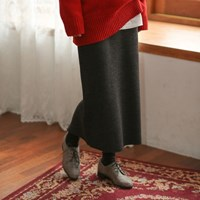 golgi knit long skirt