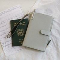D.LAB DH88 (안티스키밍) Passport Wallet - Gray + 별자리스트랩