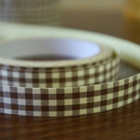 Fabric deco tape_brown check