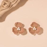 3진주 3꽃잎 귀걸이