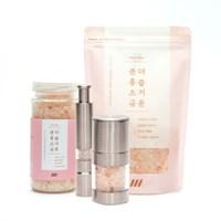 데콤포 더즐거운 분홍소금 핑크소금 세트 (병+파우치)