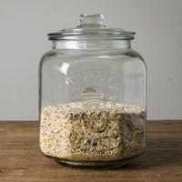 (쌀됫박증정)피너츠 글라스자 유리 쌀통 잡곡통 7리터