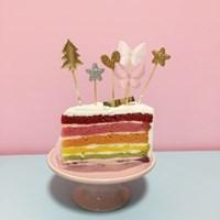 PP CAKE TOPPER - Star,butterfly,heart