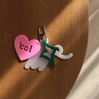 Shape of Col's Love Keyring