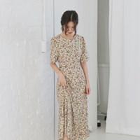 [치즈달] 플로럴 퍼프 드레스