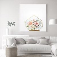루비 테라리움 장미 꽃 액자 보테니컬 그림 인테리어 포스터