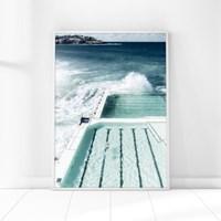 수영장 바다 풍경 인테리어 액자 포스터