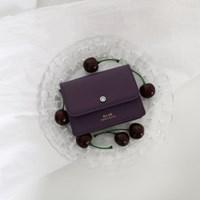 (탄생석지갑) Flor Name Wallet - Purple