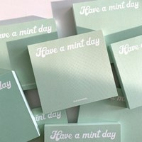 MEMO PAD - Mint Day