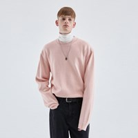 WOOL SOFT OVER KNIT_PINK