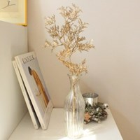 미니 골드 펄 편백나무 인테리어조화가지