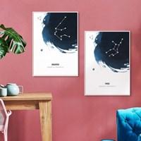 위모던 별자리 인테리어 포스터 그림액자 센스있는 생일선물
