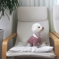 [T.라떼기모후드티셔츠]Latte napping hood T_Pink