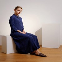 MOONY MOONIE NAVY SHIRTS ONE-PIECE