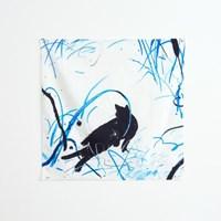 일상그림 패브릭 포스터 '여름밤고양이'