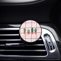 벨르아망 차량용방향제 체크무늬선인장 차량용 디퓨저