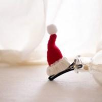 산타클로스 모자 아기집게핀