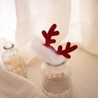 크리스마스 사슴뿔 아기집게핀