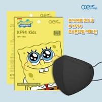 아에르 X 스폰지밥 에디션 KF94 아동용 마스크 30매입_블랙