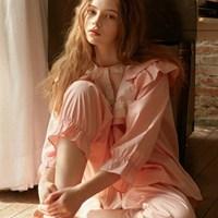 [울랄라파자마] 나일라 긴팔 투피스 핑크
