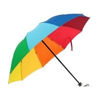 무지개 3단 우산 /수동 접이식우산
