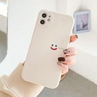[무료배송] 스마일 베이지 소프트케이스 아이폰7부터 12까지