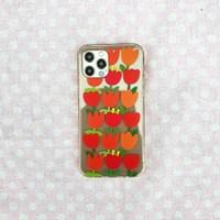 튤립 사랑의 고백 투명 젤리 휴대폰케이스