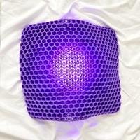 로얄퍼플 에어셀 실리콘 꼬리뼈 통풍 방석 엉덩이쿠션