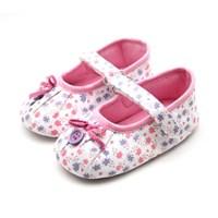 꽃무늬 버튼 유아 보행기 신발 (6-18개월) 200737