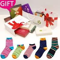 [GIFT] 행복가득, 양말 선물세트 *고급 선물포장* (남녀 2,3,4종)