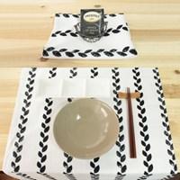 Black Leaf 키친크로스&테이블매트