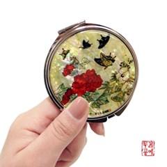 [남계우] 화접도 - 작약꽃과 나비 자개 손거울