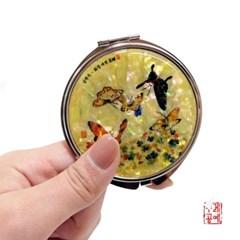 [남계우] 화접도 - 토끼풀과 나비 자개 손거울