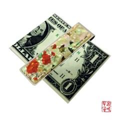 [남계우] 화접도 - 작약꽃과 나비 자개 머니클립