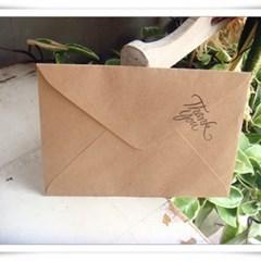 크래프트 카드지/봉투 세트(10매)