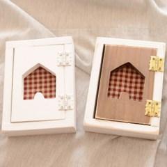 패브릭 원목 스위치커버-하우스(2color)