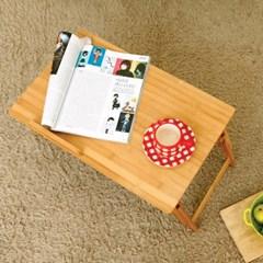 대나무 노트북 테이블