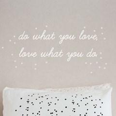do what you love 데코스티커